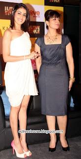 Genelia hot in white miniskirt stills