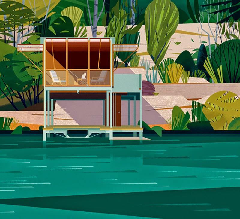 61 Cabañas Ilustradas por Marie-Laure Cruschi