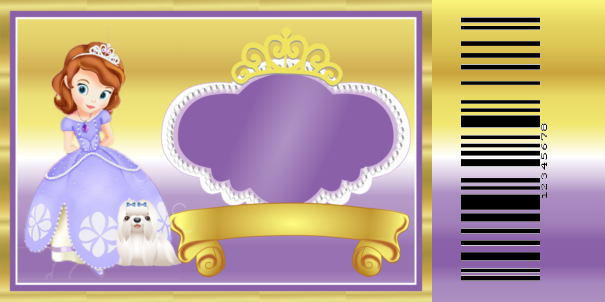 Princess Sofia the First Free Printable Kit – Free Printable Ticket Style Invitations