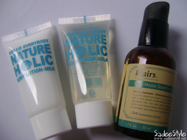 Klairs Rich Moist Soothing Serum &amp; Nature Holic Body Wash Milk and Lotion Milk