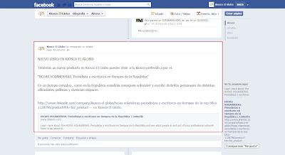 No debemos olvidarnos de publicar un par de Post en nuestra pagina de empresa en Facebook
