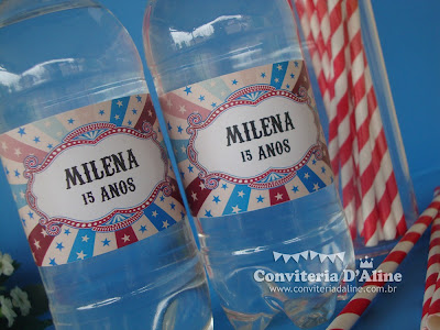 festa tema circo vintage personalizado