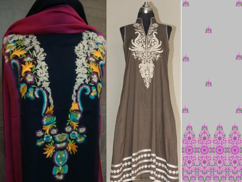 Fashion neckline designs panels design