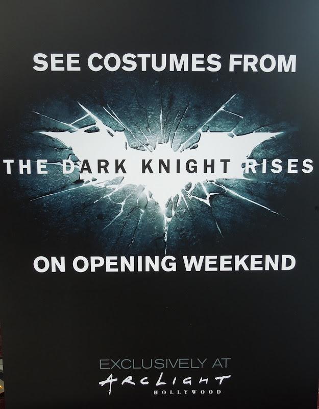 Original Dark Knight Rises costumes ArcLight Hollywood