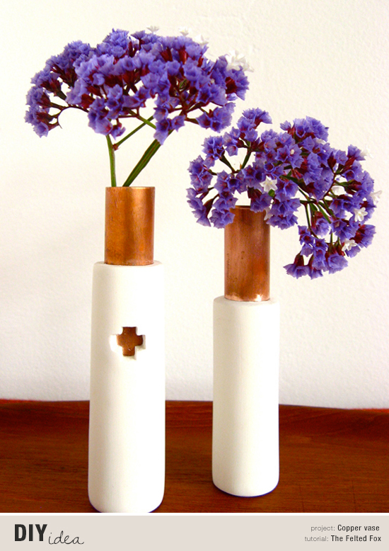 Diy copper vase tutorial by Nicole of The Felted Fox