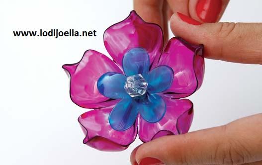 como hacer flores de botellas de plastico