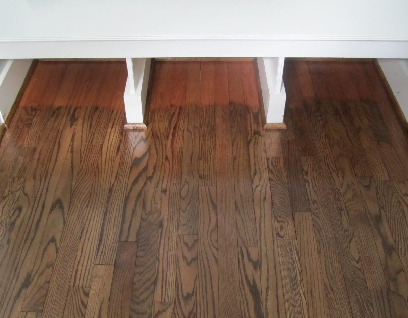 Acanthus and acorn the process of refinishing hardwood for Color of hardwood floors