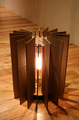 How To Recycle Recycled Corrugated Cardboard Lampshades
