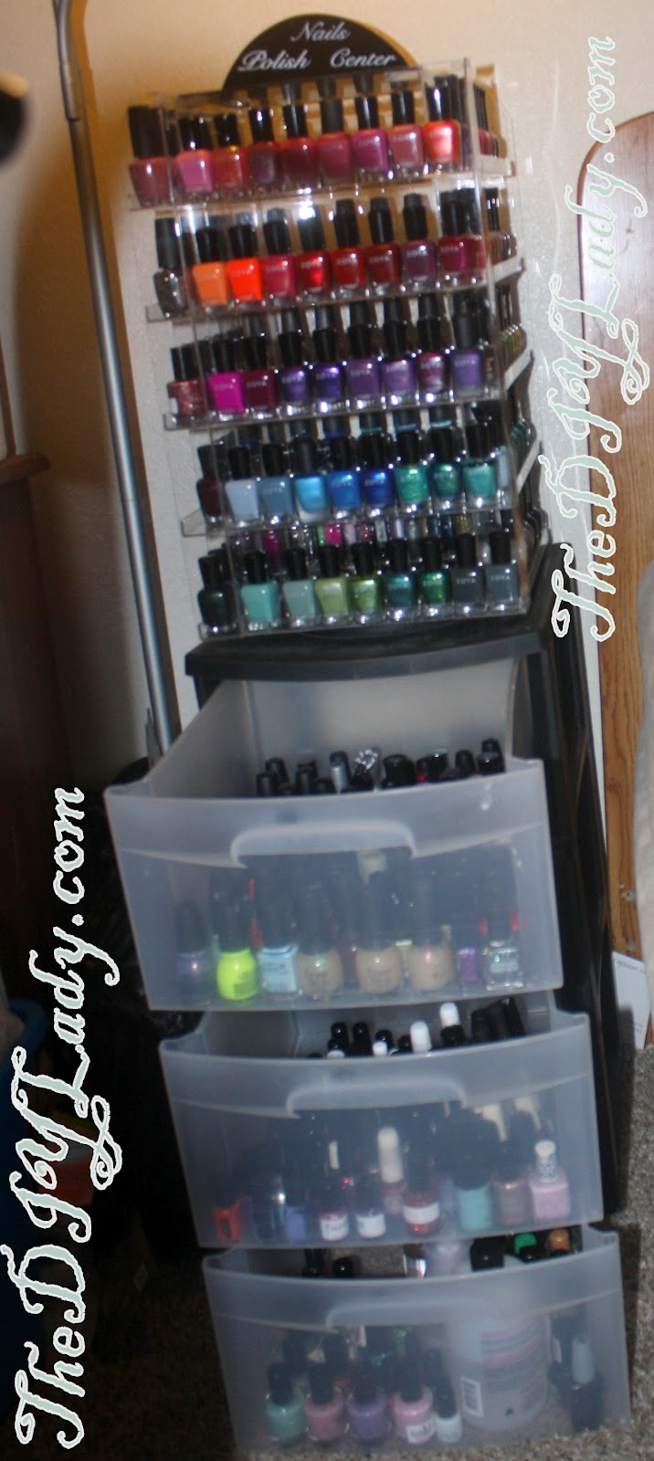 Fancy clear matte nail polish walmart inspiration nail art ideas the do it yourself lady my nail polish storage got an upgrade solutioingenieria Gallery