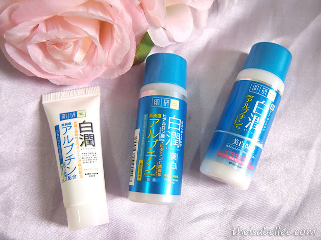 Hada Labo Whitening Face Wash, Lotion & Milk travel set