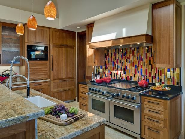 2014 colorful kitchen backsplashes ideas finishing touch