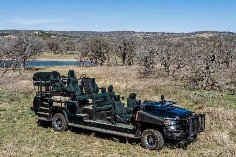 13 seat Texas quail rig