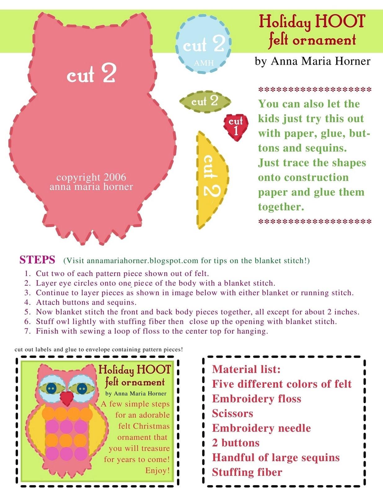 Ideas para hacer búhos en fieltro | Blog de imágenes