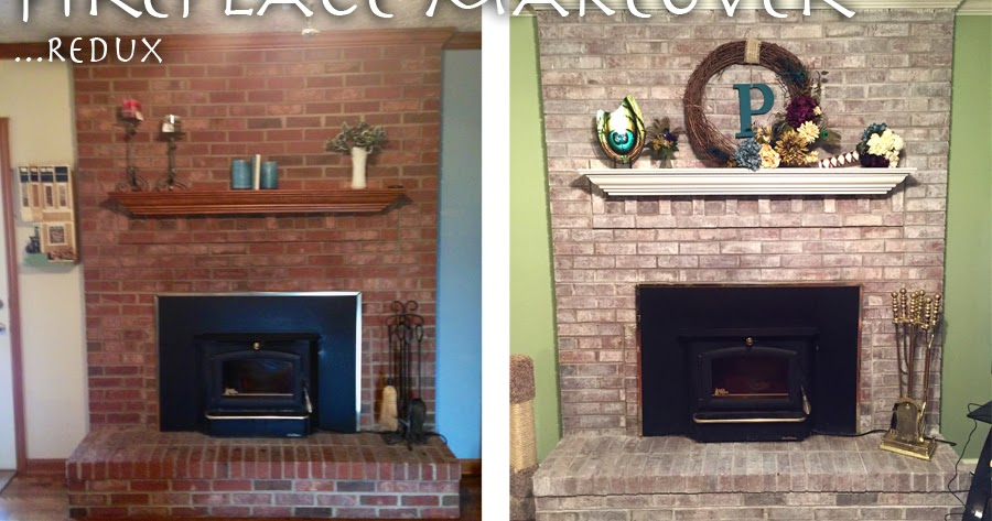 The Crafty Peacock: Painting Fireplace Mantle