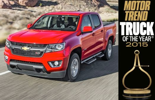 2015 MOTOR TREND Truck of the Year is the Chevrolet Colorado