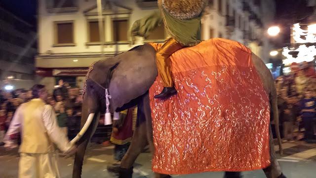 Elefante en la cabalgata de reyes de Béjar