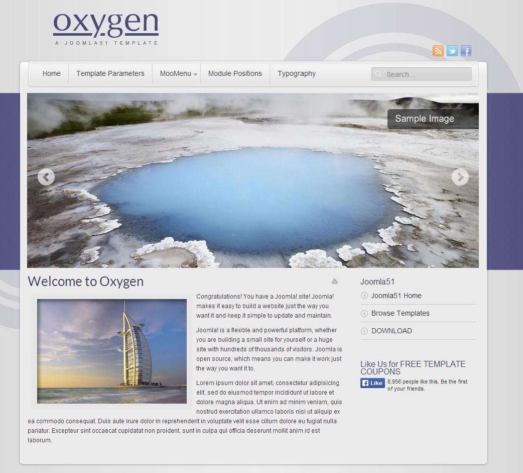 J51 Oxygen Free Joomla Template