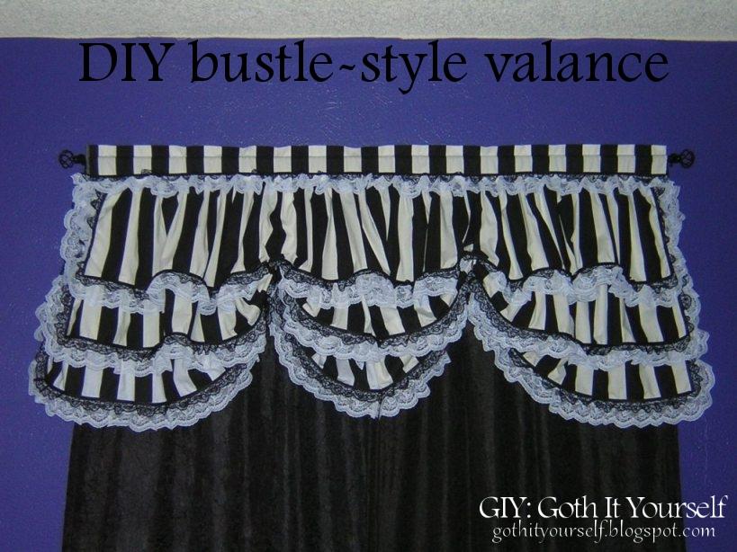 Giy goth it yourself diy stripey bustle style valance diy stripey bustle style valance solutioingenieria Choice Image