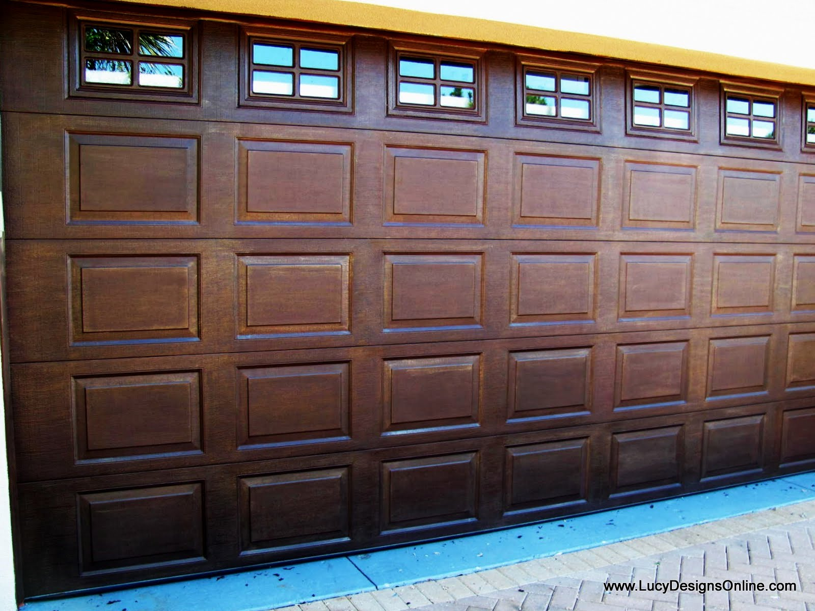 painted metal garage door bronze makeover. Black Bedroom Furniture Sets. Home Design Ideas