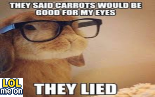 They San Carrots Would Be Good For My Eyes - Funny Picture With Caption Funny pictures