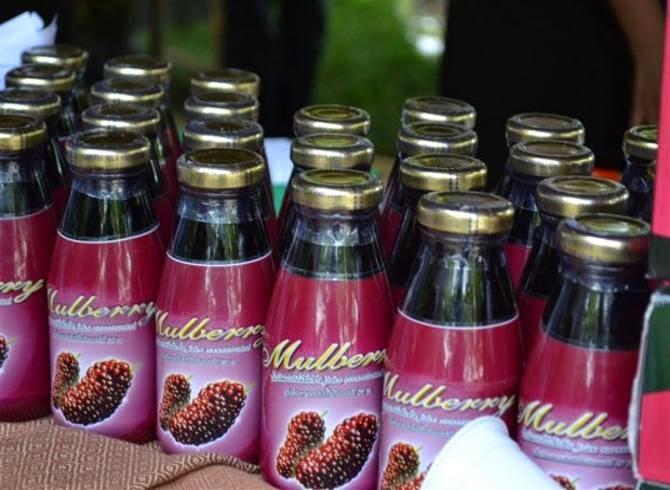 น้ำหม่อน น้ำดื่มสมุนไพรลูกหม่อน น้ำมัลเบอรี่ (mulberry juice)