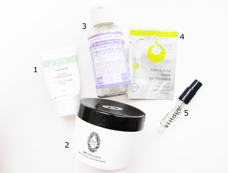 5 Mini Reviews: REN, 300 Trecento, Dr. Bronner's, Juice Beauty & Abel Organics