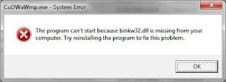 Куда установить binkw32 dll?