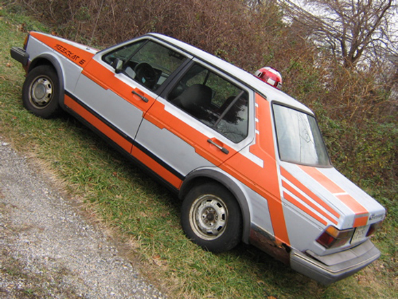 Meerkat Six Star Wars 1981 Jetta Art Car - Rear Side