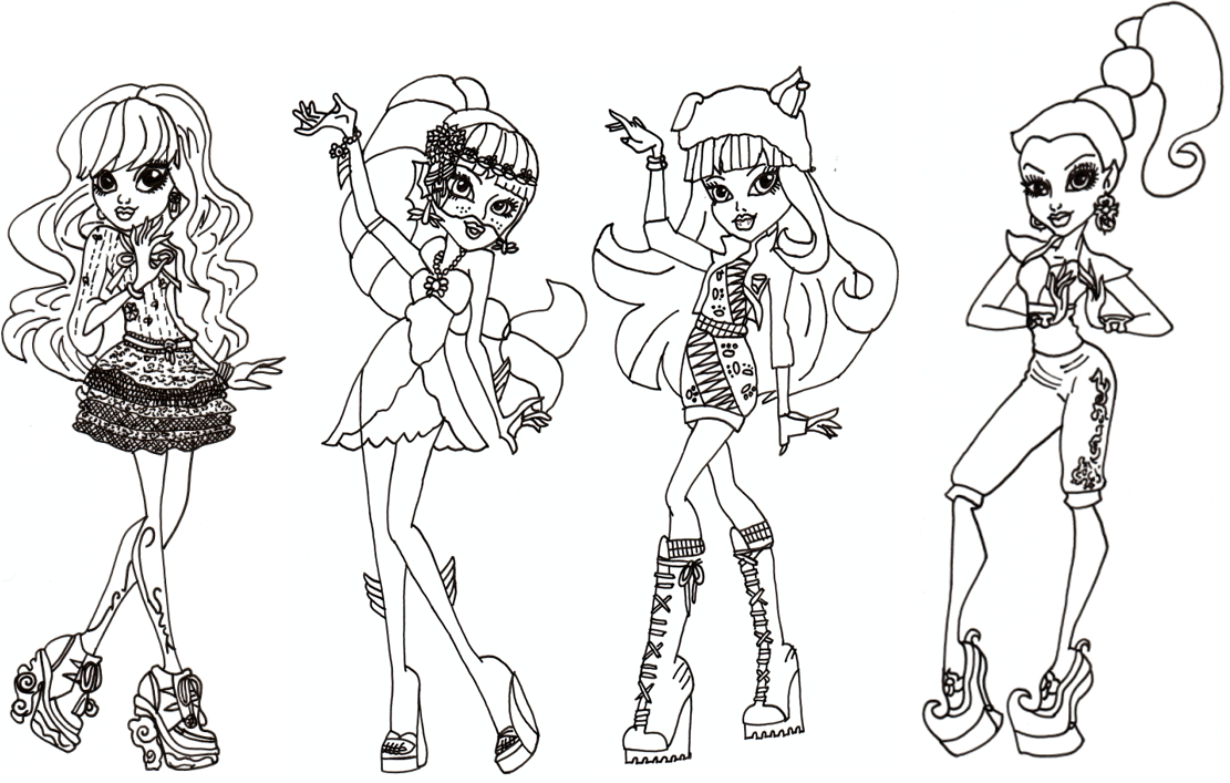 Monster High for Coloring, part 1