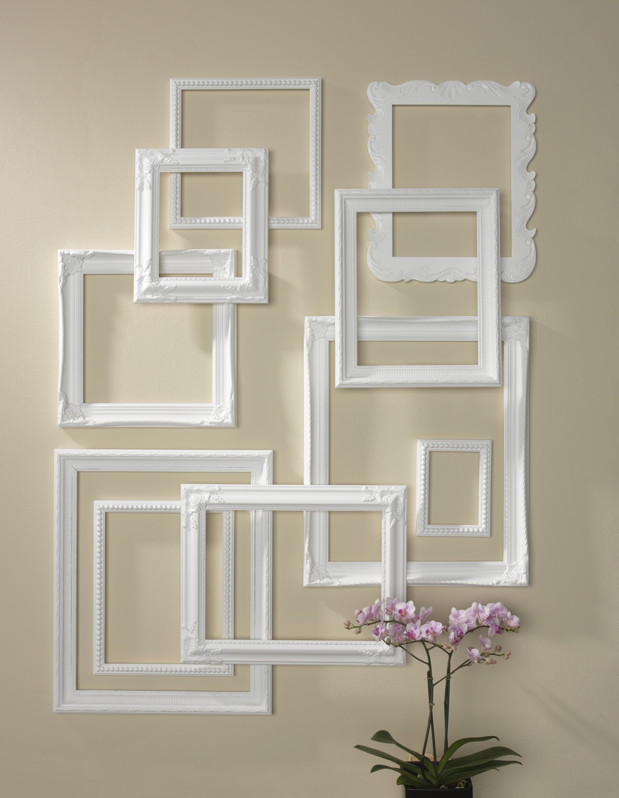 Craft warehouse blog for Picture frame organization wall
