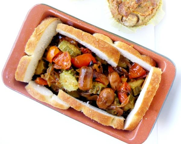 zucchine, pomodori e cipolotti al forno