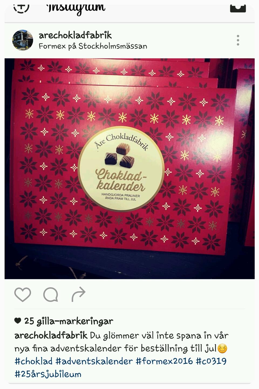 åre chokladfabrik kalender