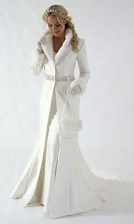 Abrigo de novia estrecho entallado, frente