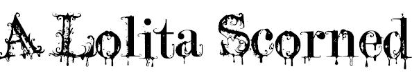 A Lolita Scorned Free Halloween Font