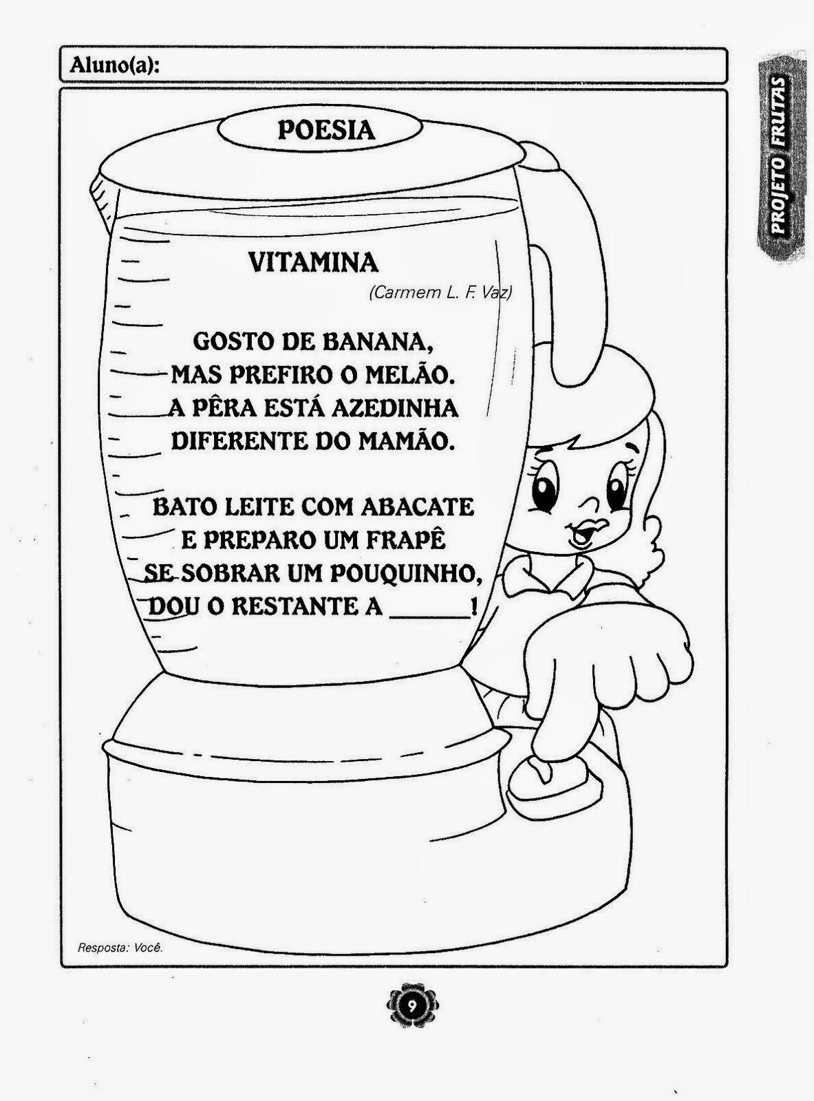 Super Blog Professor Zezinho : Projeto Adoro Frutas - Alimentação Saudável JI59