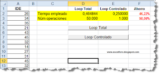 VBA: Optimizar el doble loop FOR...NEXT.