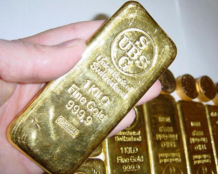 A Swiss Cast 1 Kg Gold Bar