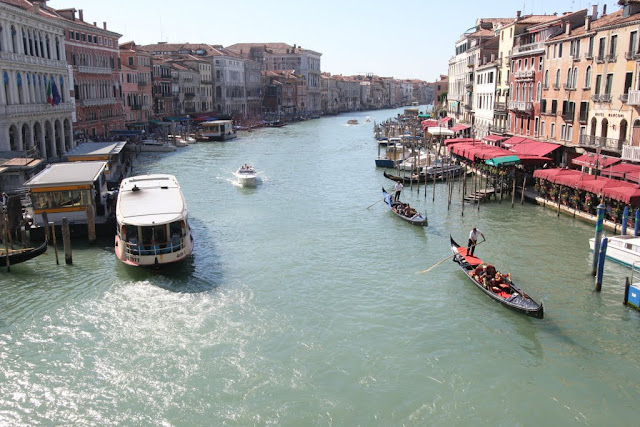 Photo 2- Grand Canal from Rialto Bridge in Venice, Italy