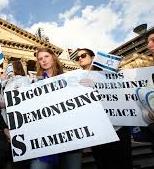 An Aussie demo against BDS