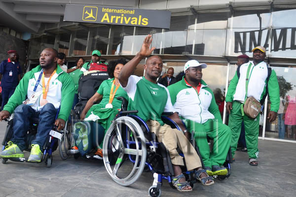 Victorious Paralympics Team receives rousing welcome