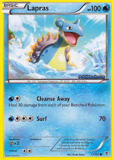 Lapras Plasma Blast Pokemon Card