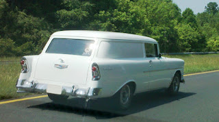 1956 Chevy Nomad white car