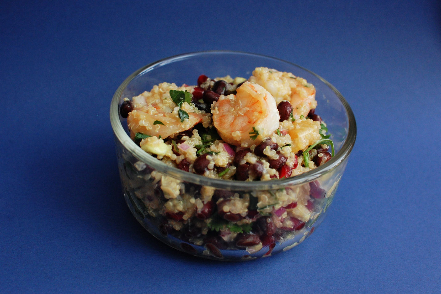 This Colorful Shrimp and Quinoa Salad kept well in the fridge and did ...