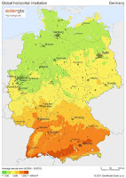 Solar Radiation Map for Germany
