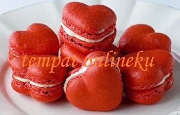 resep kue macaroon valentine