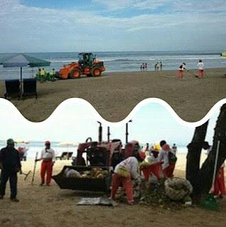 Aksi Bersih-bersih di pantai kuta