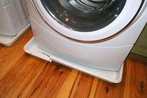 washing machine pan center drain