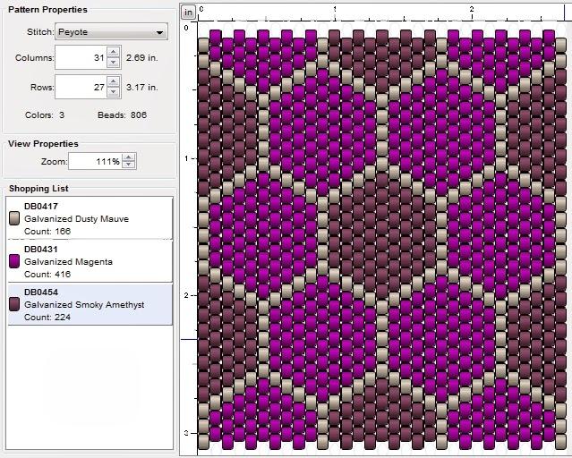 imaginesque  beading  peyote stitch pattern 8  patchwork