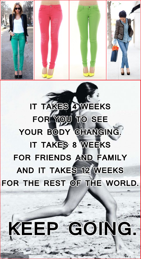 Get lean, fit looking through running and wear your sexiest jeans
