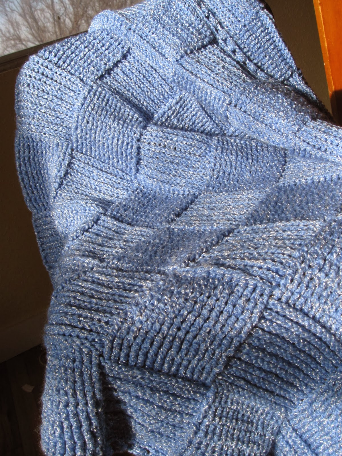 Gladness of Heart: Basket Weave Pattern Crochet Baby Afghan